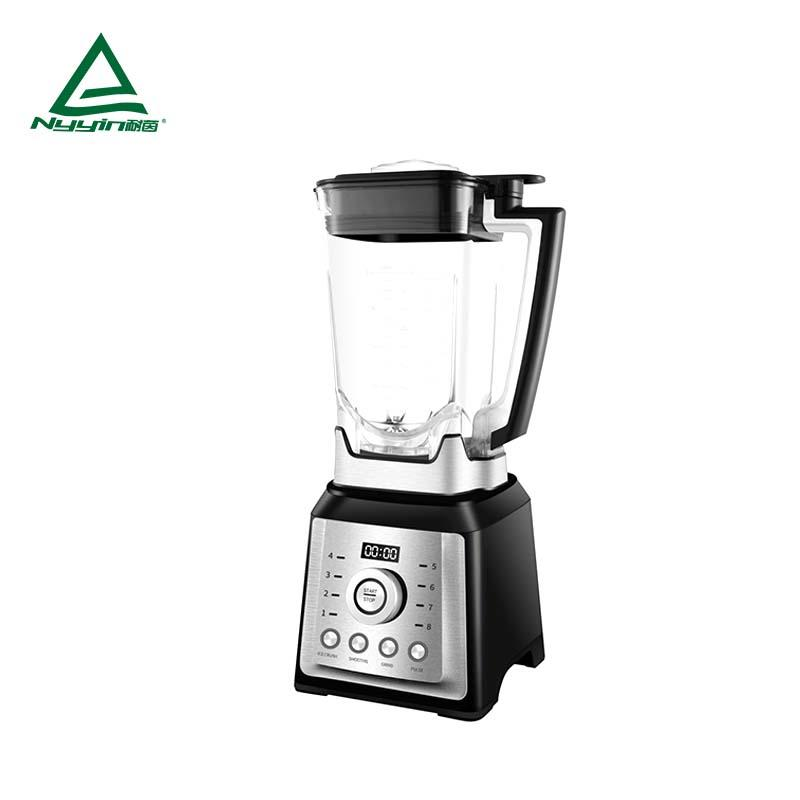 Heavy duty Blender with 2.0L Tritan jar, LED display, One rotary knob control, 3 pre-programmed presets, Pulse function key 2000W NY-8088MJB