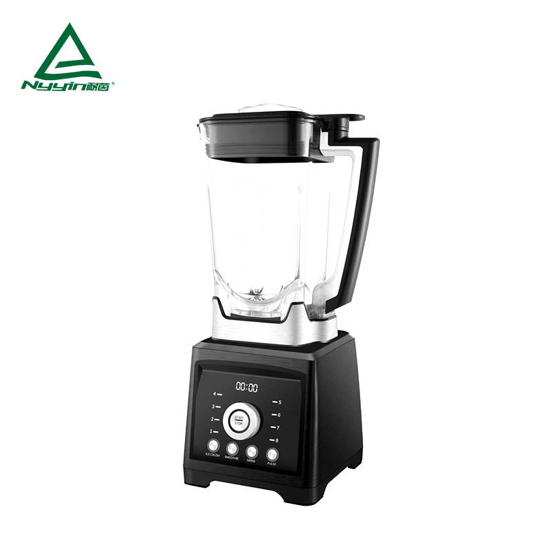 Power Blender with 2.0L Tritan jar, LED display, One rotary knob control of 8 speed levels, 3 buttons of pre-programmed presets and Pulse function button 2000W  NY-8188MJB