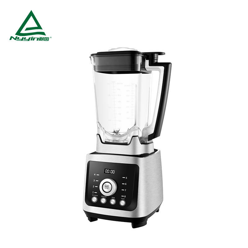Smoothie Blender with 2.0L Tritan jar,100% BPA free. One knob dial control of 8 speed levels, 3 buttons of pre-programmed settings and Pulse function, Aluminum die cast housing 2000W  NY-8658MJJ