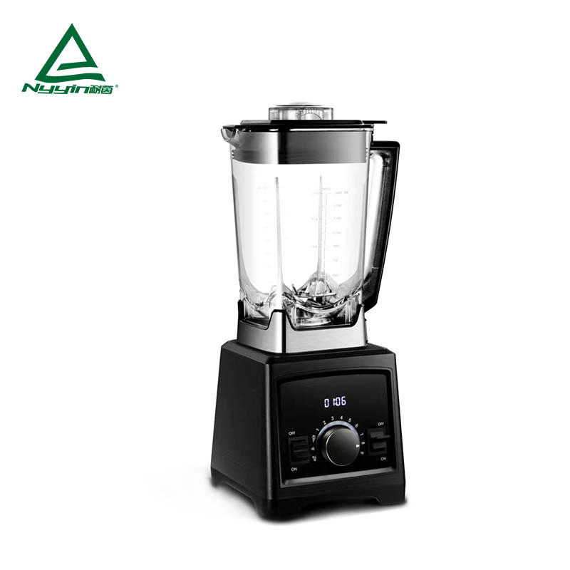 Commercial Blender with 2.0L Tritan jar, Dial speed control with LED display; 9 dial speed levels with lights; 3 pre-programmed presets.GS,REACH,ROHS,ERP,DGCCRF 2000W  NY-8188MJA