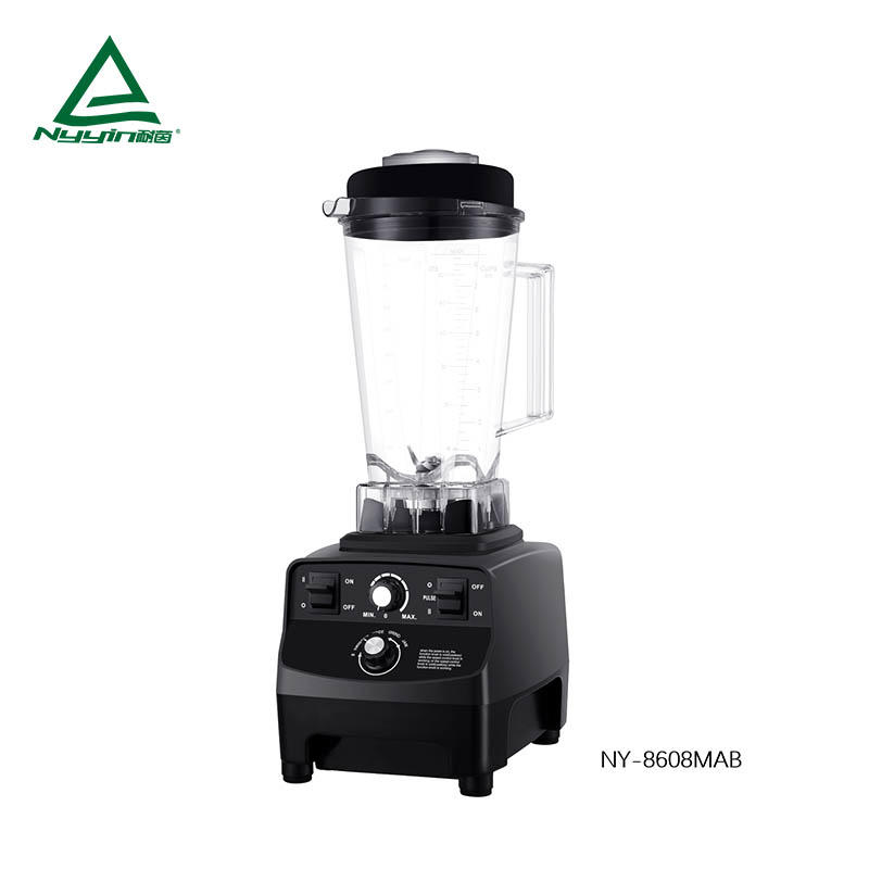 Ice Blender with 2.0L Unbreakable Tritan jar, Safety Switch, Speed Knob and Function Knob of 4 Pre-programmed settings: Smoothie, Juice, Grind, Jam 1500W  NY-8608MXB