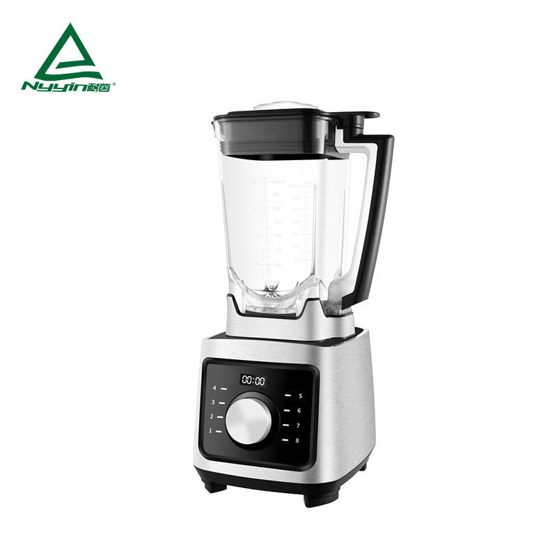 Professional ice Blender with 2.0L Tritan jar, LED display, One rotary knob with dial speed Control of 8 level, Aluminum die cast housing 2000W  NY-8658MJA