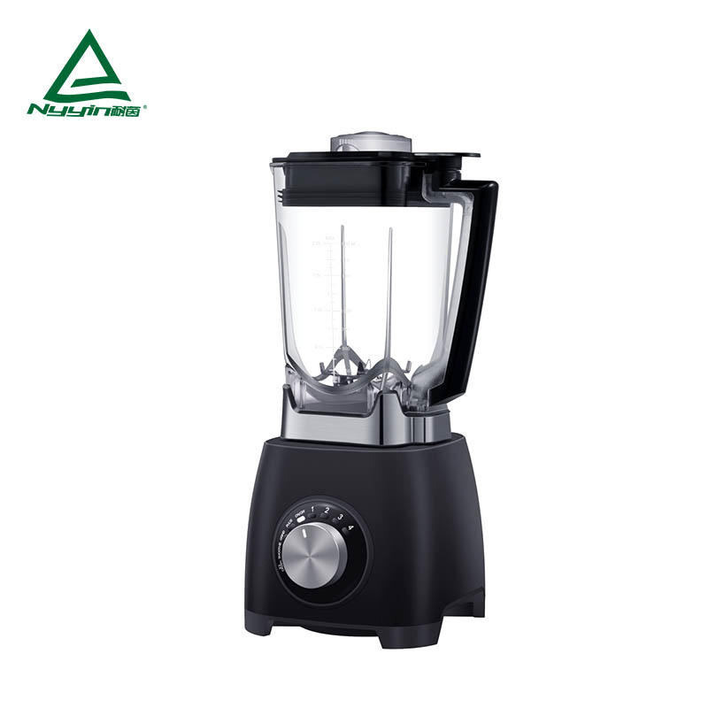 Smoothie milkshake Blender with 2.0L Tritan jar, One knob control with 4 speed level and 4 pre-programmed settings: Ice crush, Smoothie, Grind and Pulse 2000W  NY-8668MJA