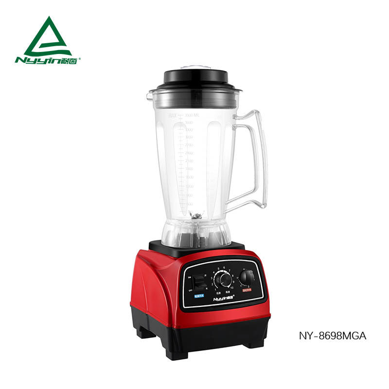 Commercial Blender with 2.0L/2.5L/3.9L Tritan Jar, Safety Switch, Variable speed control and timer switch 2000W NY-8698MXA