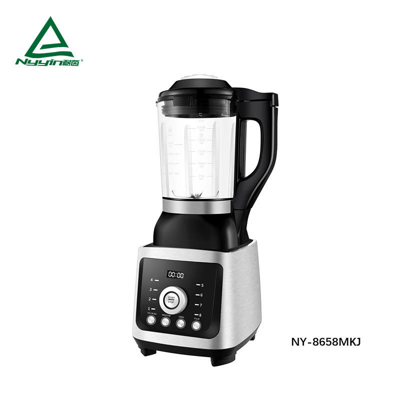 Motor power, 800W electric heater power Soup Maker with 1.75L High borosilicate glass jar, One knob mode to control 8 pre-programmed presets,Aluminum die cast housing 1400W  NY-8658MXJ
