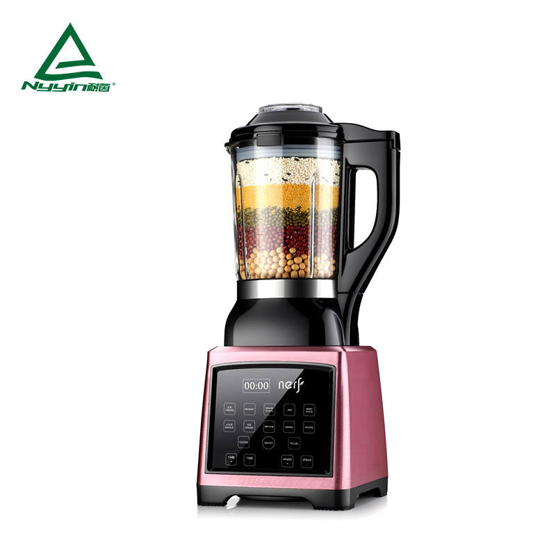 Motor power, 800W heater power multi blender and soup maker with 1.75L high borosilicate jar, Touch mode to control 10 pre-programmed presets with clear LED display, easy to operation 1400W NY-8188EKC