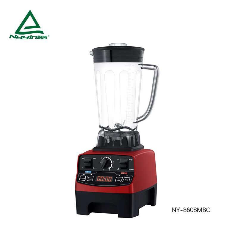 Fruit Blender with 2.0L Unbreakable Tritan jar, LED display, Variable dial speed and 4 pre-programmed presets 2000W  NY-8608MXC