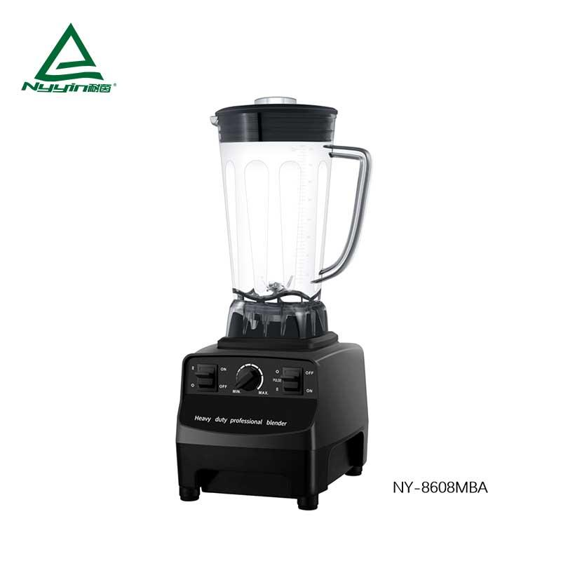 Commercial Blender with 2.0L Tritan Jar, Safety Switch,Variable speed control with PULSE toggle 2000W  NY-8608MXA
