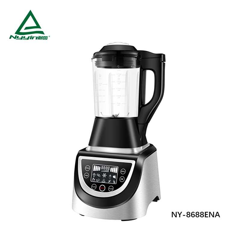 Motor power, 800W heater power commercial Soup Blender with 1.75L High borosilicate glass jar, touch control with large LED display1400W  NY-8688EXA