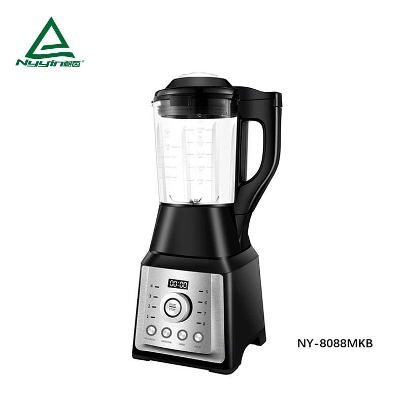 Motor power, 800W heater power Soup Blender with 1.75L high borosilicate jar, Preset touch button to control 8 pre-programmed presets, Chop, Pulse and Clean function keys, clear LED display 1400W NY-8088MXB