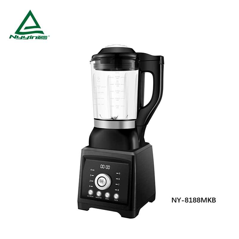 Motor power, 800W heater power Soup cooks Blender with 1.75L high borosilicate jar, Preset touch button to control 8 pre-programmed presets, Chop, Pulse and Clean function keys, clear LED display 1400W  NY-8188MXB